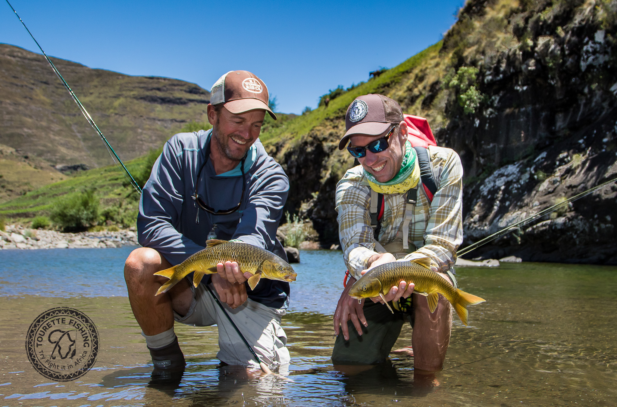 Double up time for Keith Clover and Jeff Currier. Both these fish were taken on dryfly and what a pleasure to have been there to capture the moment.